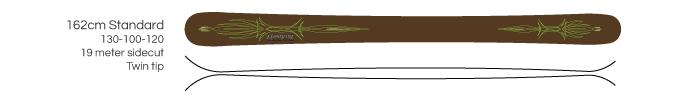 Hangfire Skis - 162cm standard