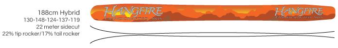 Hangfire Skis - 188cm hybrid