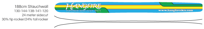 Hangfire Skis - 188cm Stauchwall